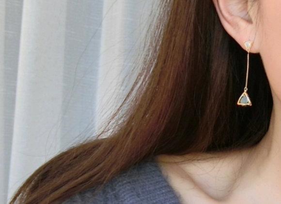 Triangular Stone Earrings