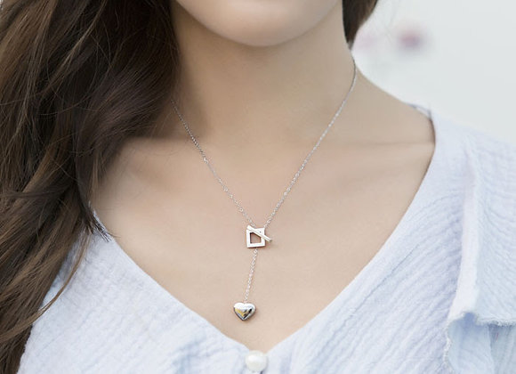 Korean Silver & Rose Gold Necklace