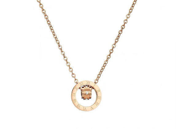 Rose gold forever ring necklace