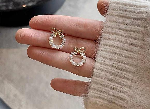 Ribbon Ornament Earrings