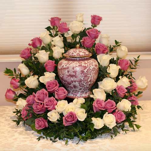 Royal Rose Urn Surround
