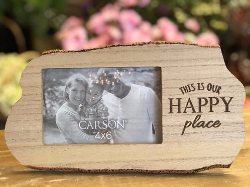 Happy Place Wood Frame