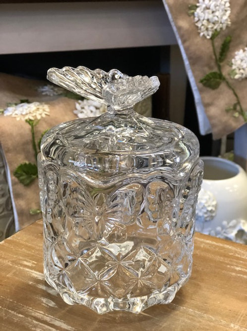 Crystal Butterfly Candy Dish