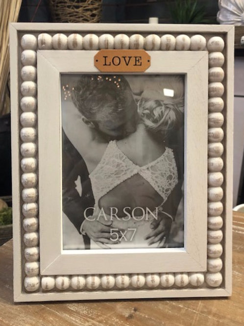 Love Wood Beaded Frame