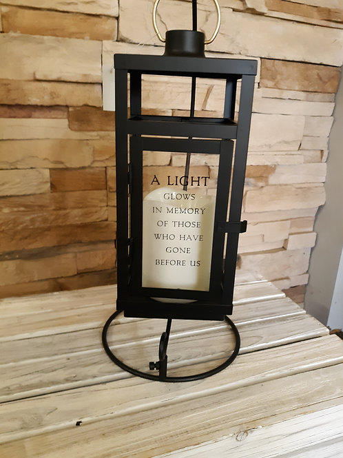 """""""A Light"""" black Lantern with stand"""