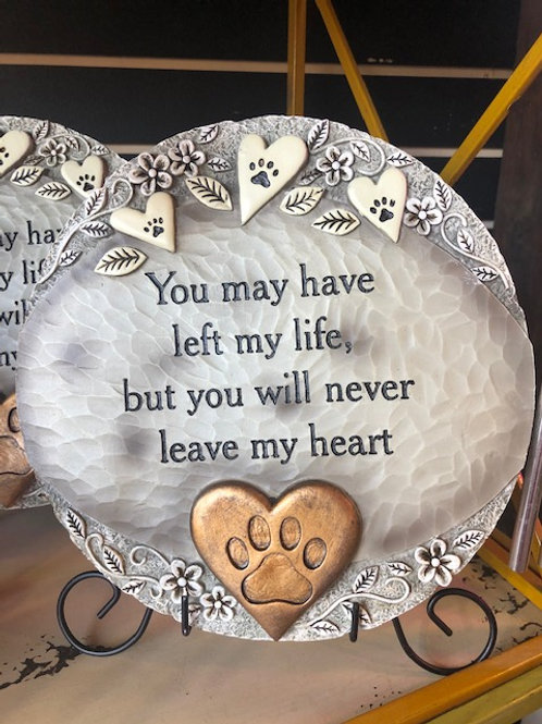 Never Leave My Heart Garden Stone