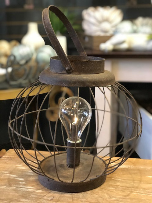 Rustic Lantern with Light