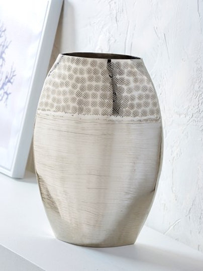 Hammered Nickel Vase