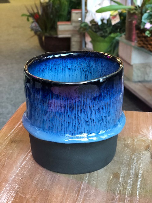 Blue Vase two tone small