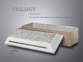 Trilogy White Simulated Stone