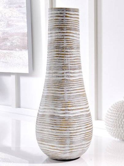 White Washed Brown Vase