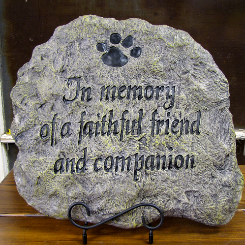 Faithful Companion Garden Stone