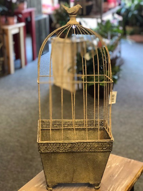 Square planter with Birdcage topper