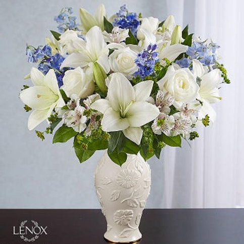 Loving Blooms, Blue and White