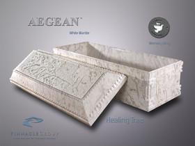 Aegean White Marble Healing Ring