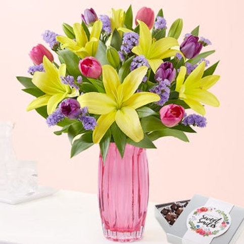Tulip and Lily Spring Bouquet