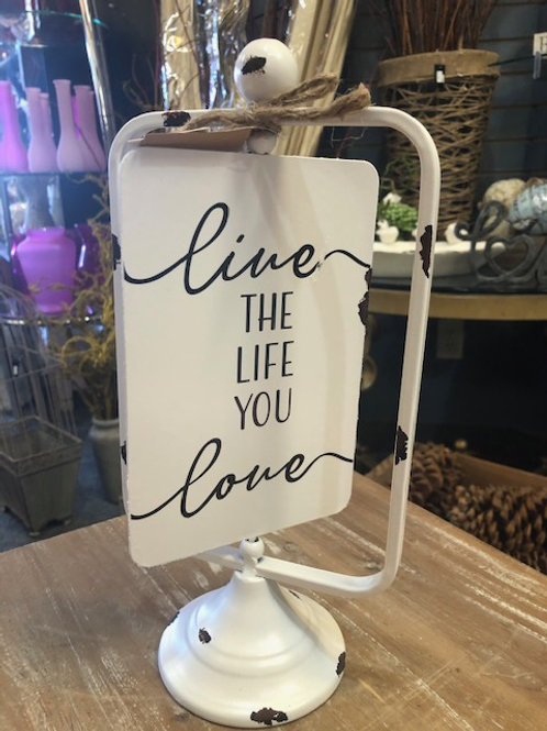 Reversible Table Decor Live the Life