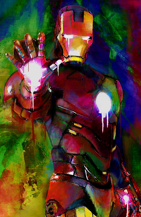 Mdf Mounted Iron Man