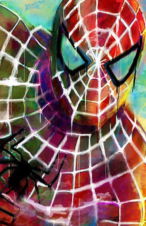 Mdf Mounted Spider-Man