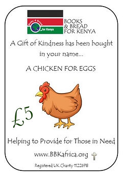 Gift In Kind -  Chicken for eggs