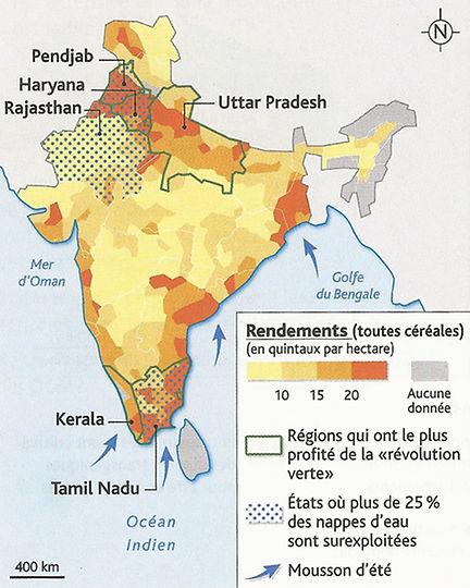 Carte Inde Nourrir Les Hommes.Chine Energie