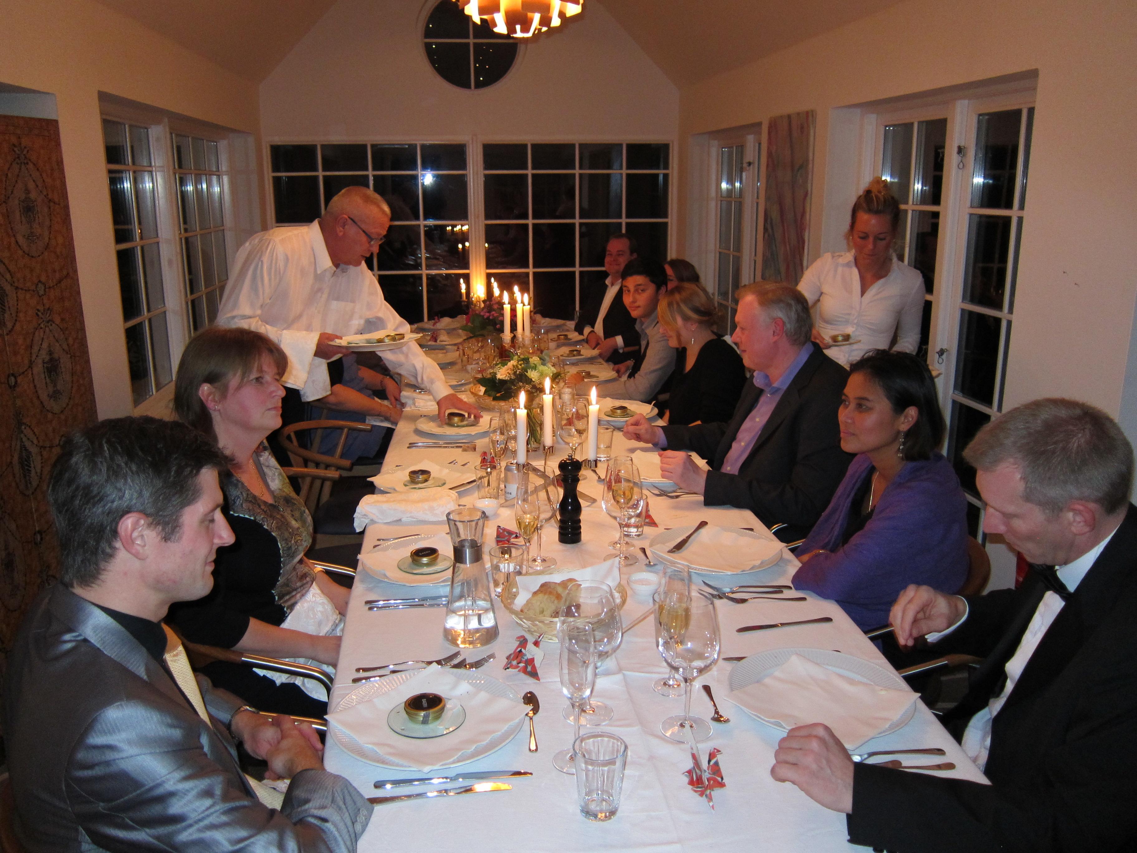 Middagsselskab på Ryethojgaard