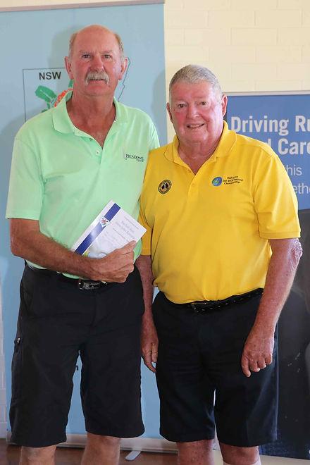 36-hole runner up Dennis Davis & Ian Vid