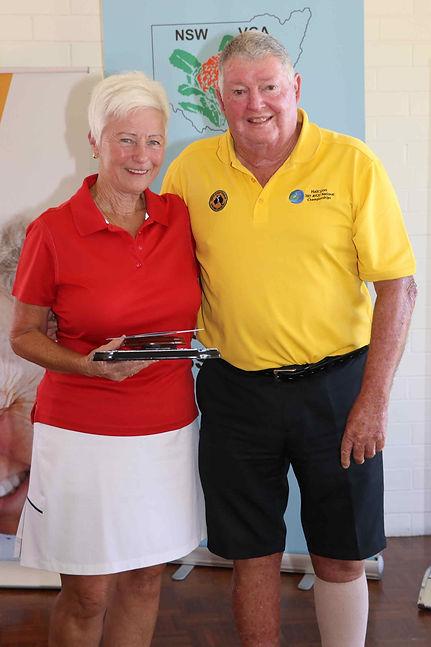 Ladies 36-hole winner Vicki Gray with NS