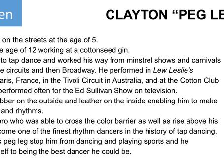 """CLAYTON """"PEG LEG"""" BATES"""