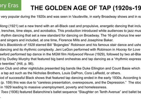 The Golden Age of Tap (1920s-1930s)