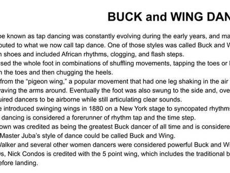 Buck and Wing Dancing
