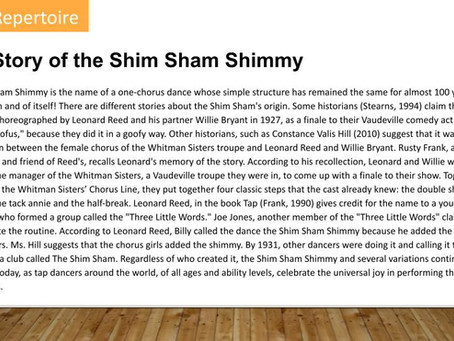 The Story of the Shim Sham Shimmy
