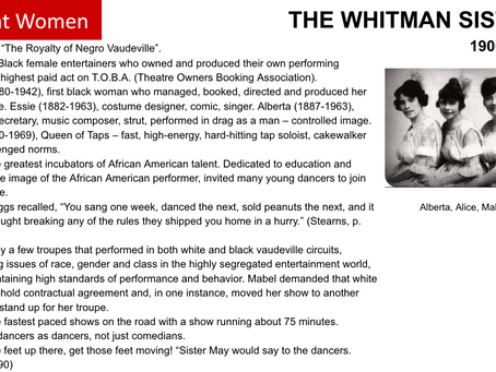 THE WHITMAN SISTERS