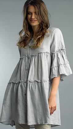 Linen Frilled Tunic