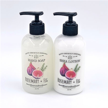 'Rosemary + Fig'  Soap + Lotion Set