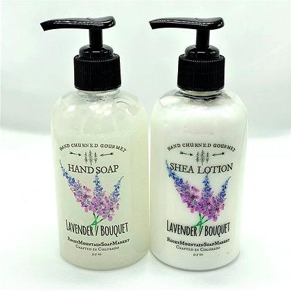 'Lavender Bouquet' Soap + Lotion Set