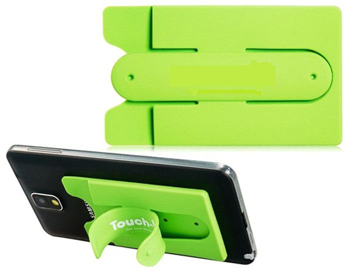 Porte carte de credit pour smartphone silicone avec fonction stand