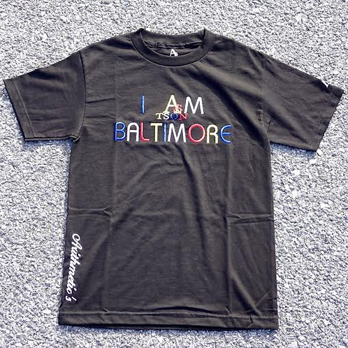 I AM BALTIMORE Tee (Colors on BLACK)
