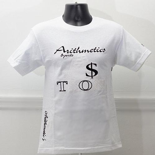 The Brand TEE  (White / Black on White)