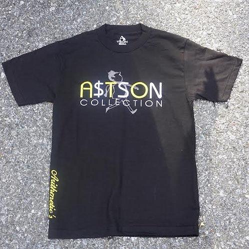 A$TSON Tee (yellow / Grey/white on Black)