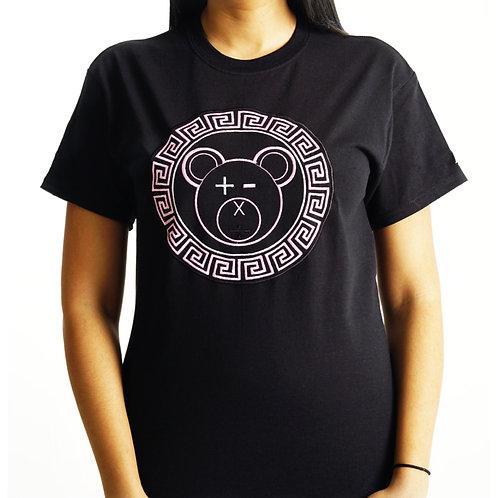 A Bear Tee (Pale Pink / White on Black)
