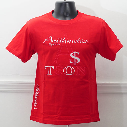 The Brand TEE  (White / Red on Red)