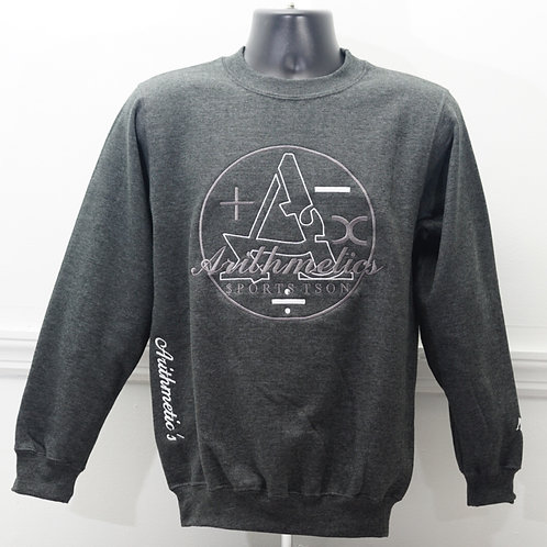 ARITHMETICS CREW NECK (CHARCOAL GREY)