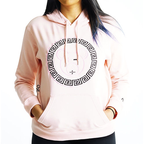 A Bear Premium Hoodie (Pale Pink / Black / White on Pale Pink)