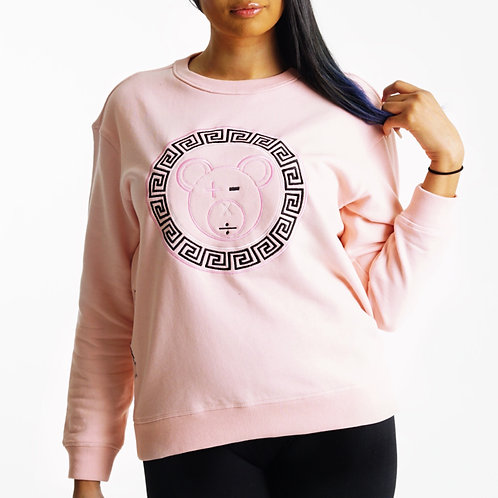 A Bear Premium Crew (Pale Pink / Black / White on Pale Pink)