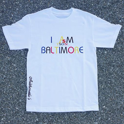 I AM BALTIMORE Tee (Colors on WHITE)