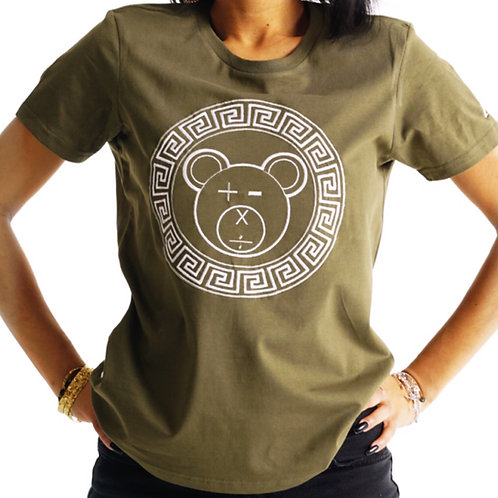 A Bear Tee (Army Green / White on Army Green)