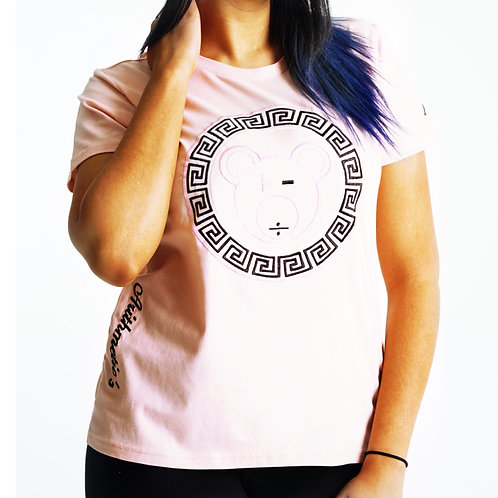 A Bear Tee (Black / Pink / White on Pale Pink)