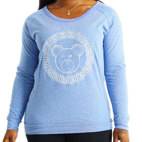 A Bear Slouch Crew (Light Blue / White on Light Blue)