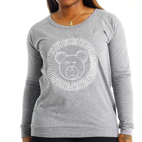 A Bear Slouch Crew (Athletic Heather / White on Athletic Heather)